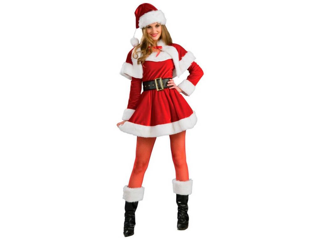 Costume Adulto Babbo Natale Donna Premium Taglia Unica Rubies S8904