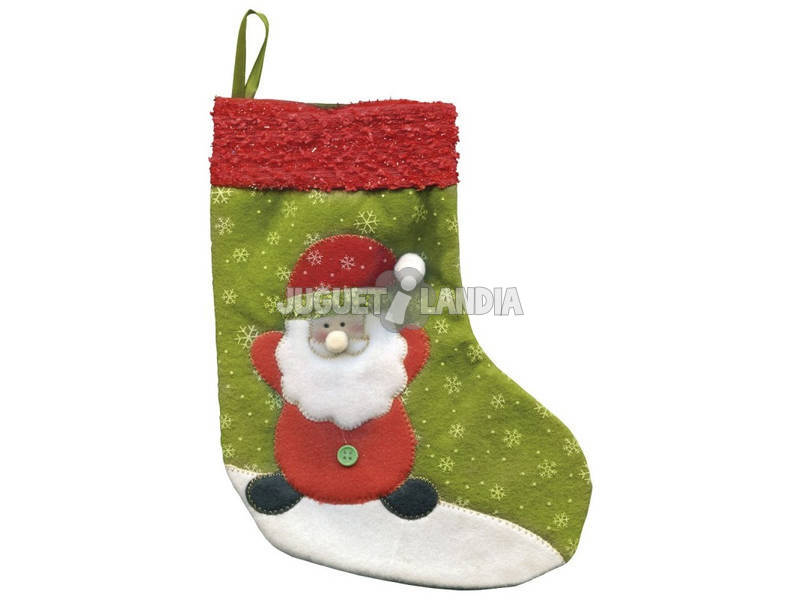 Calcetín Santa Claus Deluxe 25 cm. Rubies S2509
