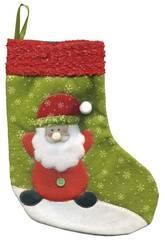 imagen Calcetín Santa Claus Deluxe 25 cm. Rubies S2509