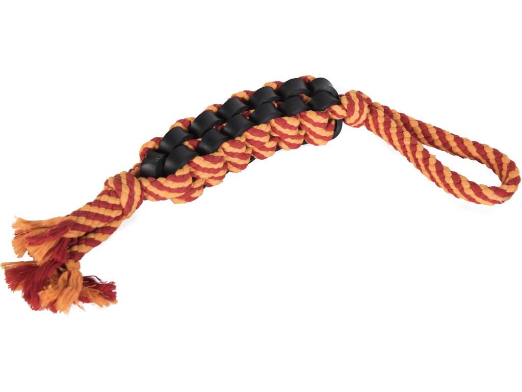 Mordedor Cuerda Reforzado con Caucho para Mascotas L