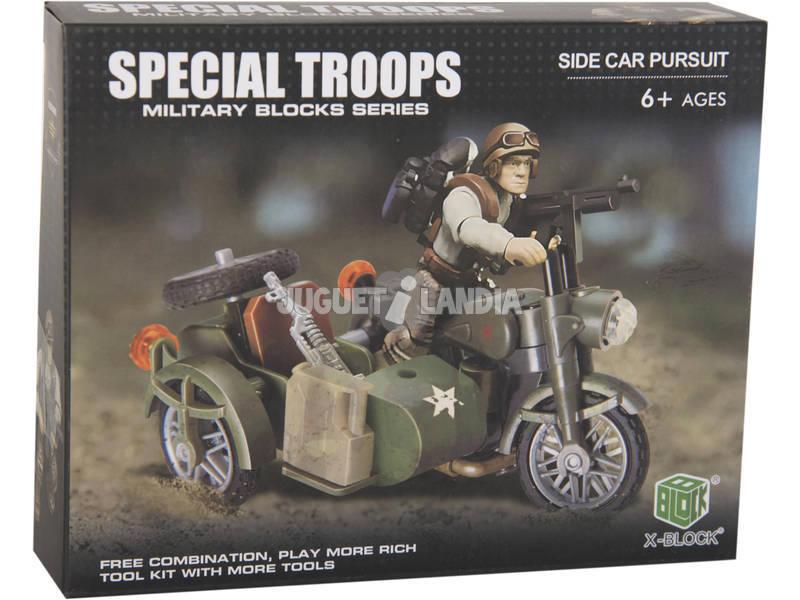 Truppe Speciali Moto con Sidecar con Accessori Blocchi 56 pezzi