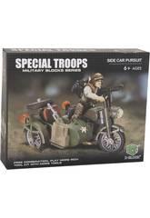imagen Tropas Especiales Moto con Sidecar con Accesorios Bloques 56 Piezas