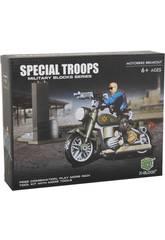 imagen Tropas Especiales Moto con Accesorios Bloques 75 Piezas