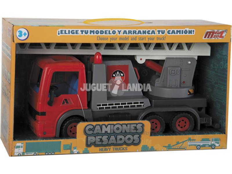 Camión Grúa de Bomberos 32 cm.