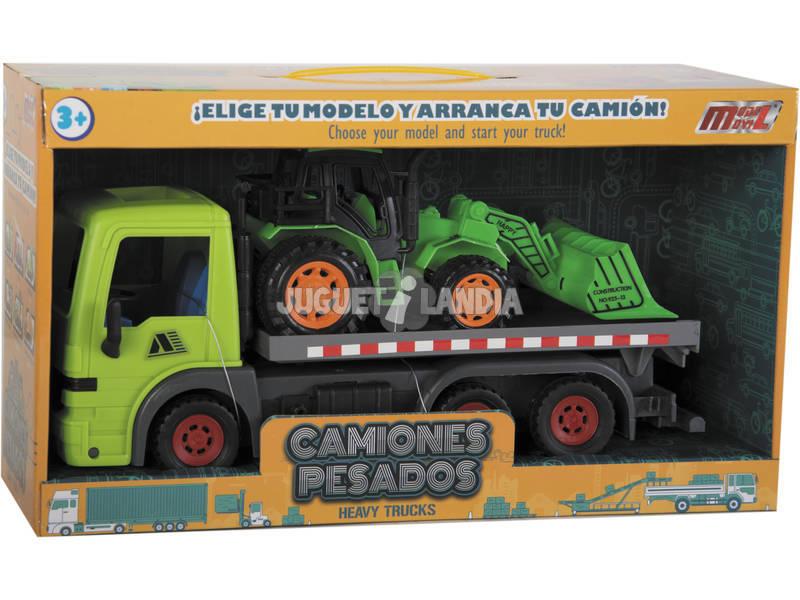 Caminhão 31.5 cm. com Veículo Construção 20 cm. Fricção