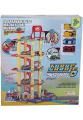 Parken 5 Stockwerke mit 4 Autos und Zubehör 54 Stück