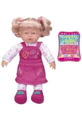 Zweisprachige interaktive Puppe Rosabelle 40 cm. mit Tablett