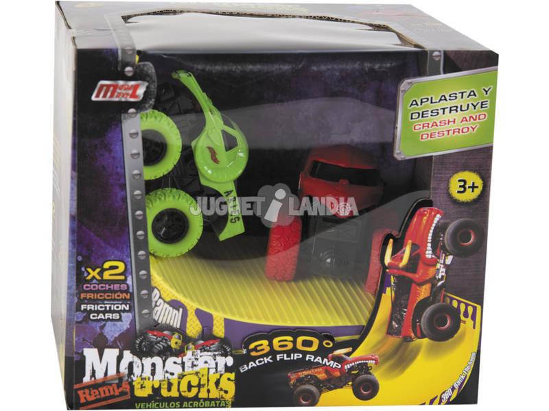 Monster Truck Veículos Acrobatas com Rampa