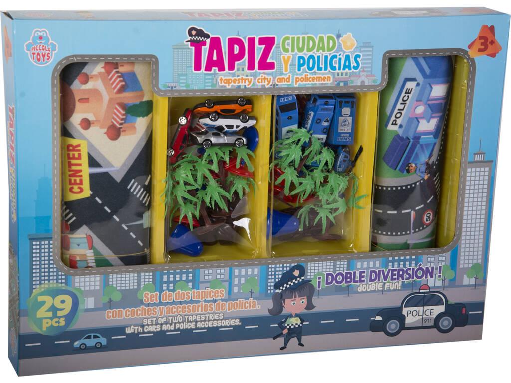 Set 2 Tappetini Auto Polizia e Accessori