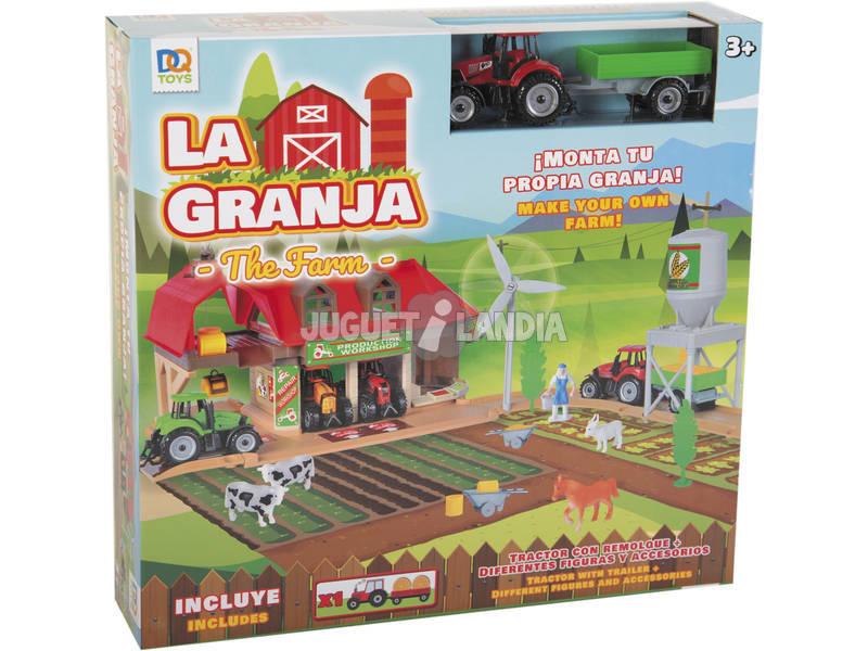 La Granja con Figuras, Tractor con Remolque y Accesorios