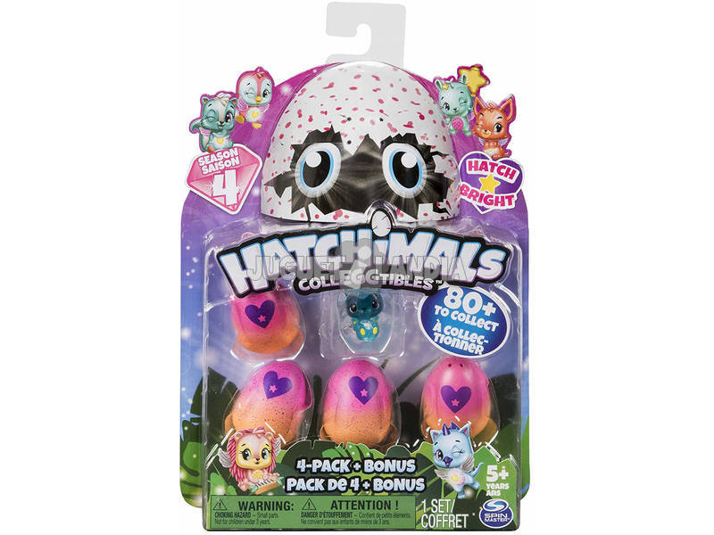 Hatchimals Colecionável Pack 5 Figuras S4 Bizak 6192 1952