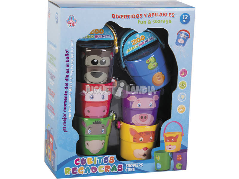 Cubos Animalitos Regadera Apilables