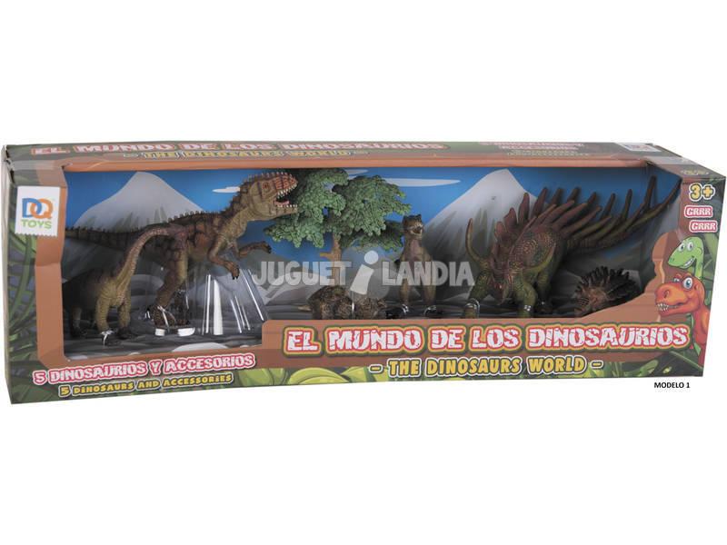 Dinosaurios 5 Unidades con 2 Accesorios