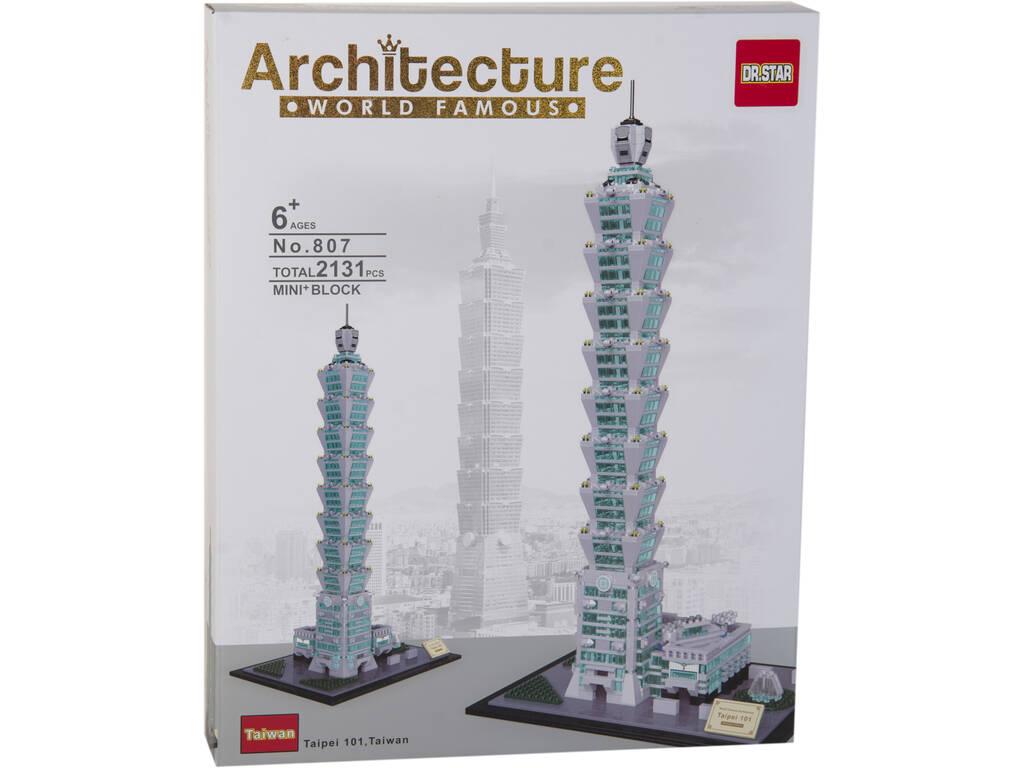 Blocos De Construção Taipei 101 2131 Peças