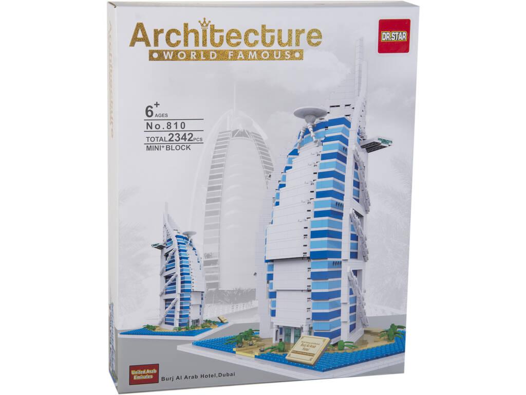 Blocos De Construção Burj Al Arab Hotel 2342 Peças