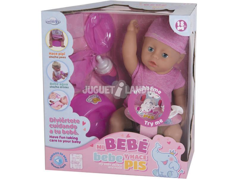 Meu Primeiro Bebé e Faz Xixí Boneco 40 cm.