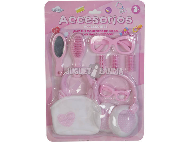 Set Accessori Bellezza Bambola 9 Pezzi