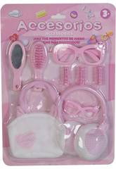 Set Accessori Bellezza Bambola 9 Pezzi
