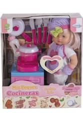 La mia Piccola Cuoca Bambola 40.5 cm.con Accessori Cucina