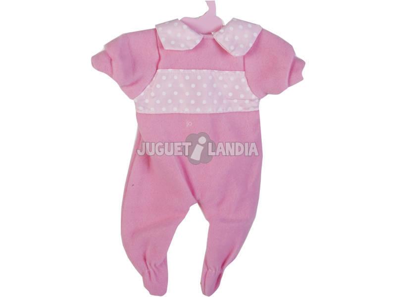 Moda Bebè Bambole 40 cm. Tuta Rosa con Dettagli pois