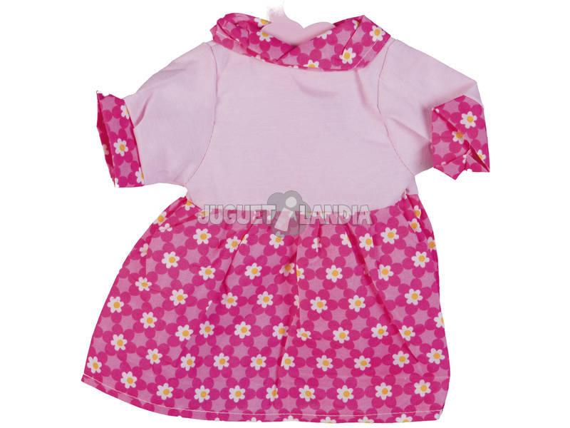 Moda Bebè Bambole 40 cm. Vestito Rosa Fiori