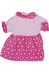 imagen Moda Bebé Muñecas 40 cm. Vestido Rosa Flores