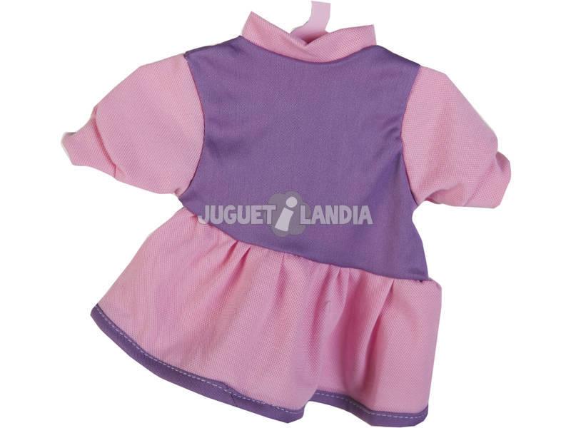 Moda Bebè Bambole 40 cm. Vestito Viola con Pantalone Fiori