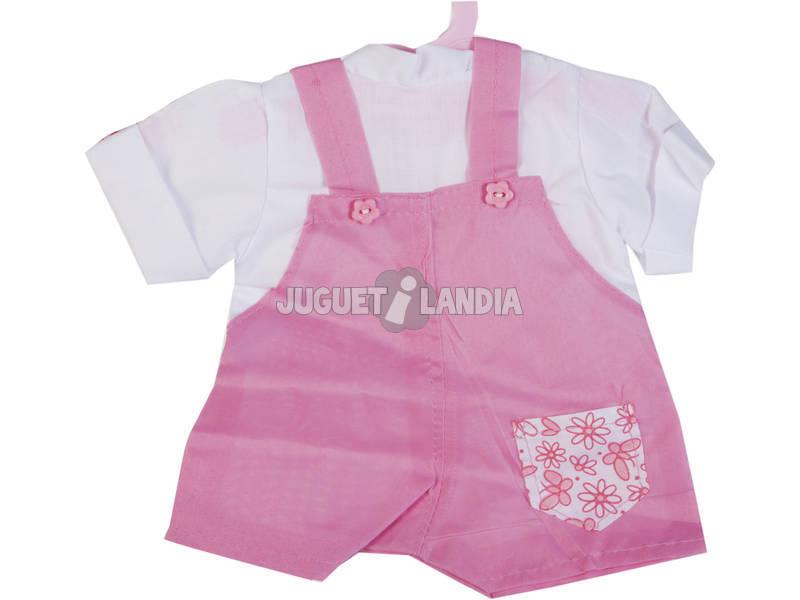 Moda Bebè Bambole 40 cm. Bavaglino Marrone con Camicetta Bianca