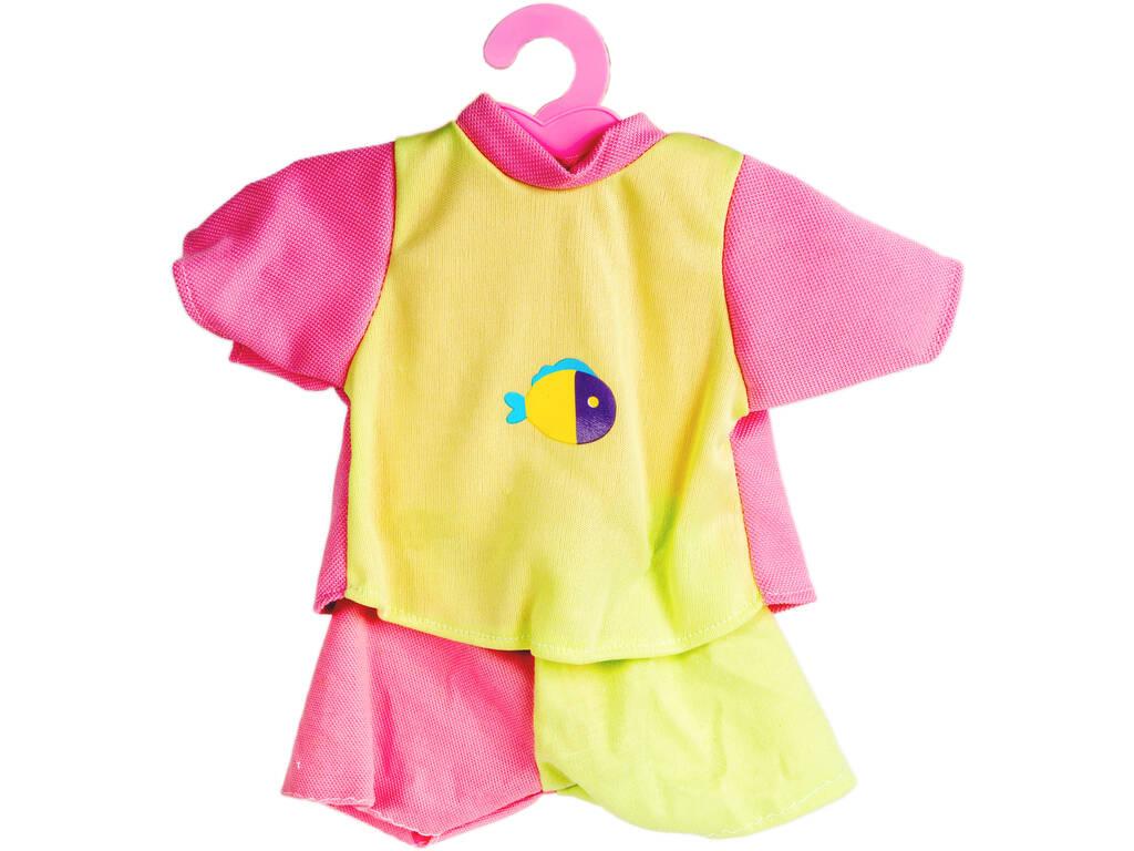 Moda Bebé Bonecas 40 cm. Conjunto Cor-de-rosa e Verde