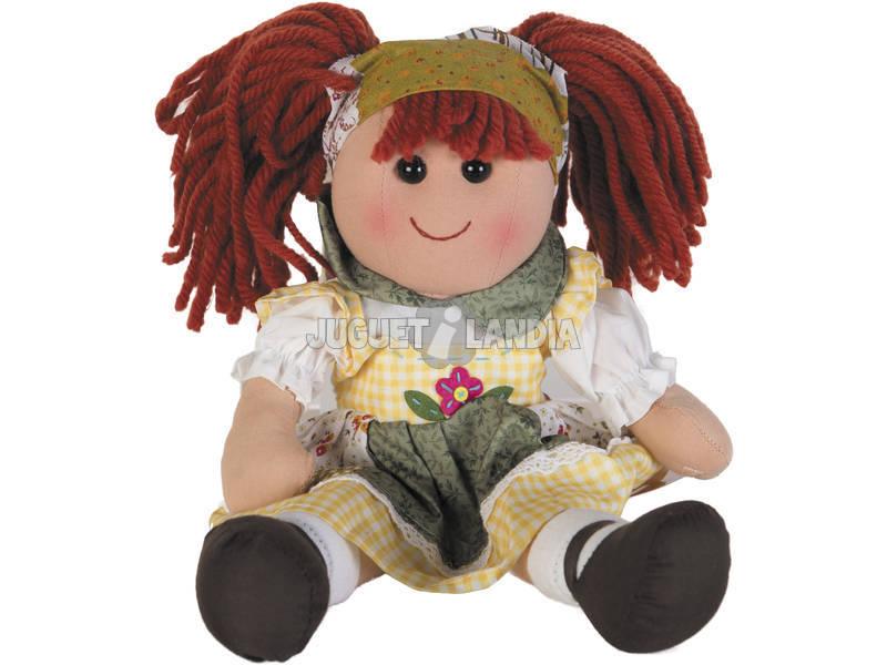 Bambola di Pezza Vestito a Quadri 40 cm