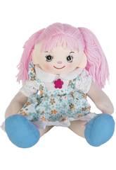 Muñeca Trapo Vestido Azul 50 cm.