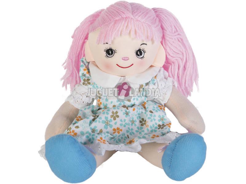 Bambola di pezza Vestito Blu 40 cm