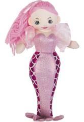 Sirena Rosa Muñeca de Trapo 30 cm.