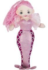 Sirene Rosa Stoffpuppe 70 cm.