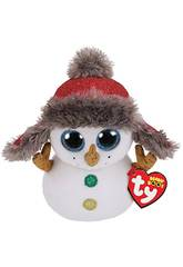 Peluche Snowman Button 15 cm TY 36219TY