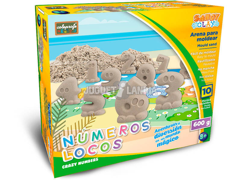 Sabbia per Modellare Numeri Pazzi 600 grammi