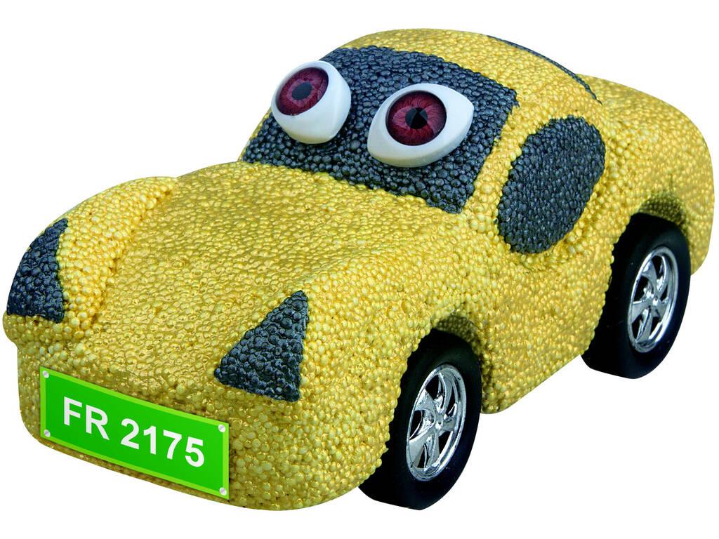 Espuma de Foam para Moldar Carro Amarelo