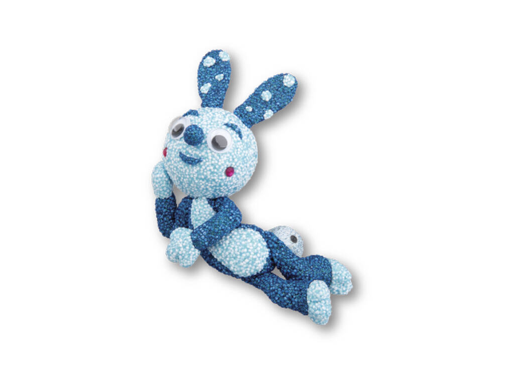Espuma de Foam Para Moldear Conejito Azul