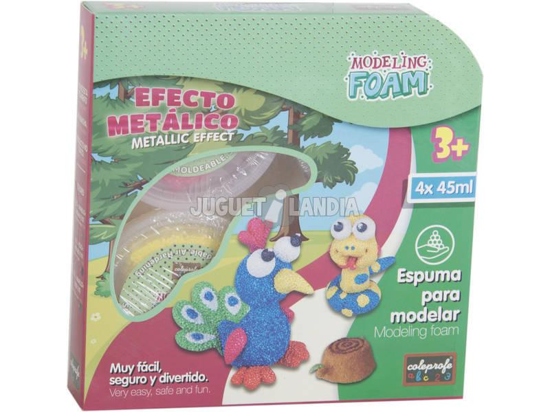 Foam Granulado Para Moldear Efecto Metálico 4 Botes 45 ml.