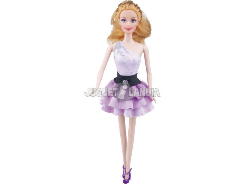 Boneca Alice com Pasta para Moldar a Roupa