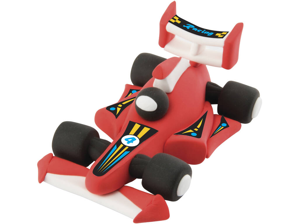 Modella la Tua Supermacchina da Corsa rossa con Pasta Modellabile