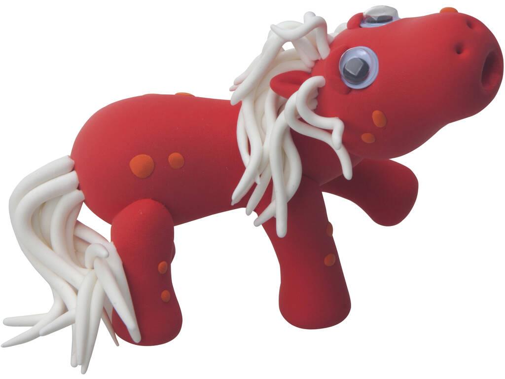 Molda o Teu Cavalo Mágico Vermelho com Pasta de Moldar