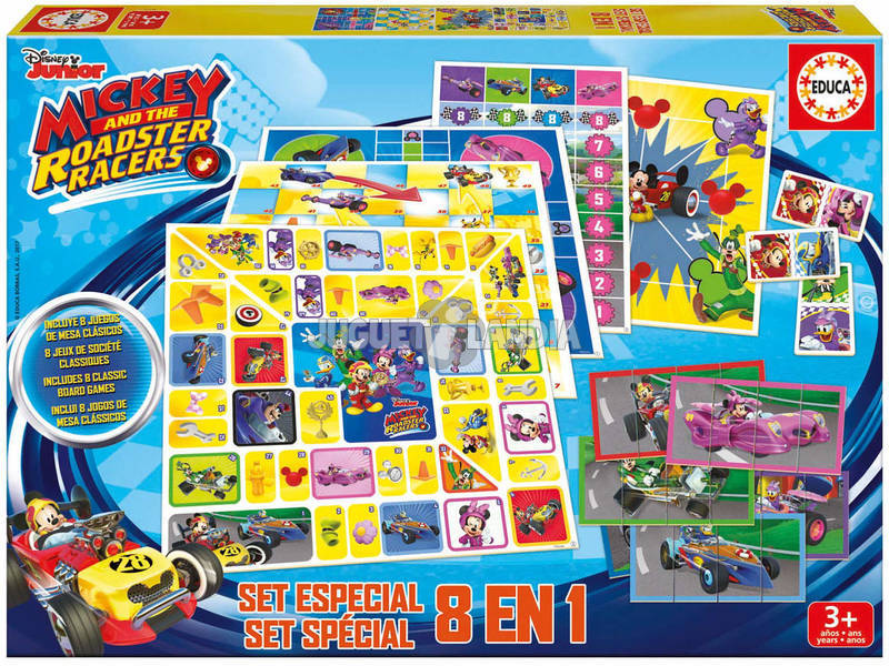 Set 8 in 1 Games Mickey And The Roadster Racers Puzzle Educa 17225