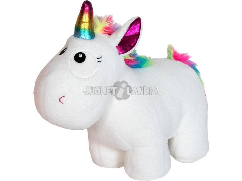 Peluche Unicorno 34 cm assortito rosa o bianco
