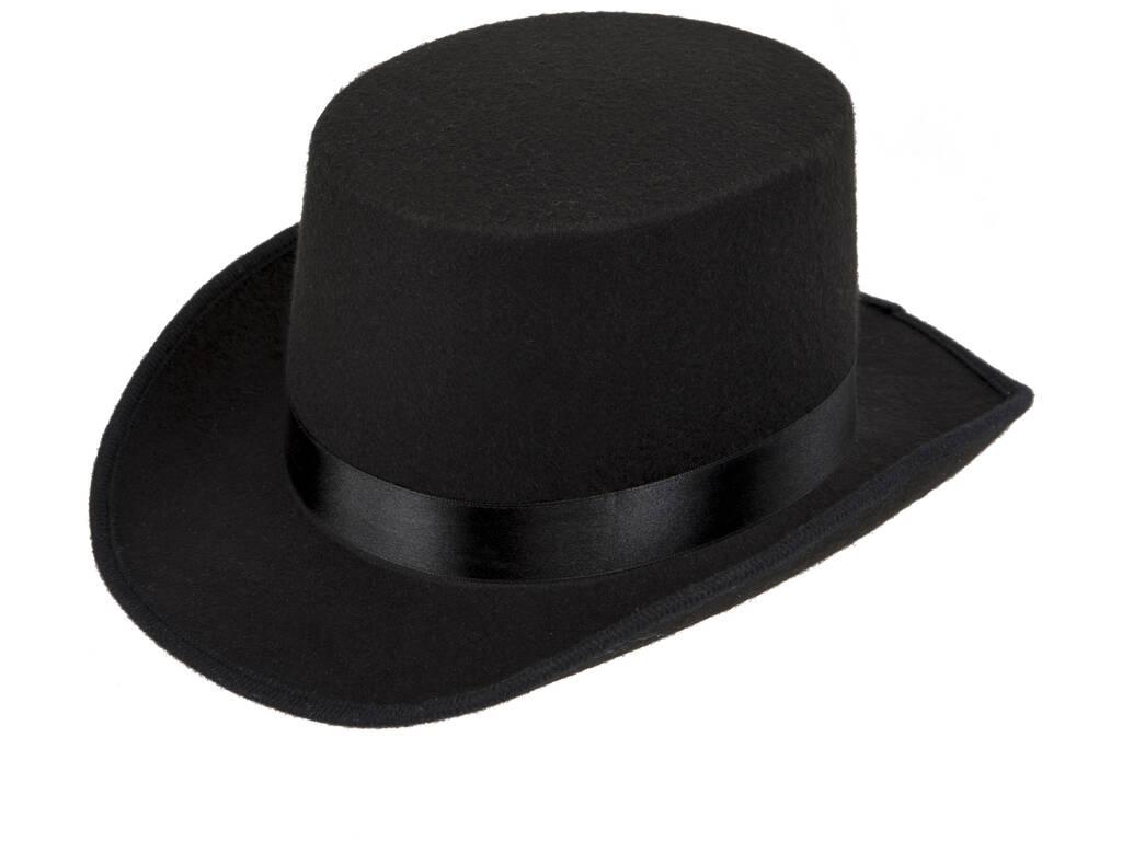 Chapéu Adulto Preto com Fita Preta de 59 cm.