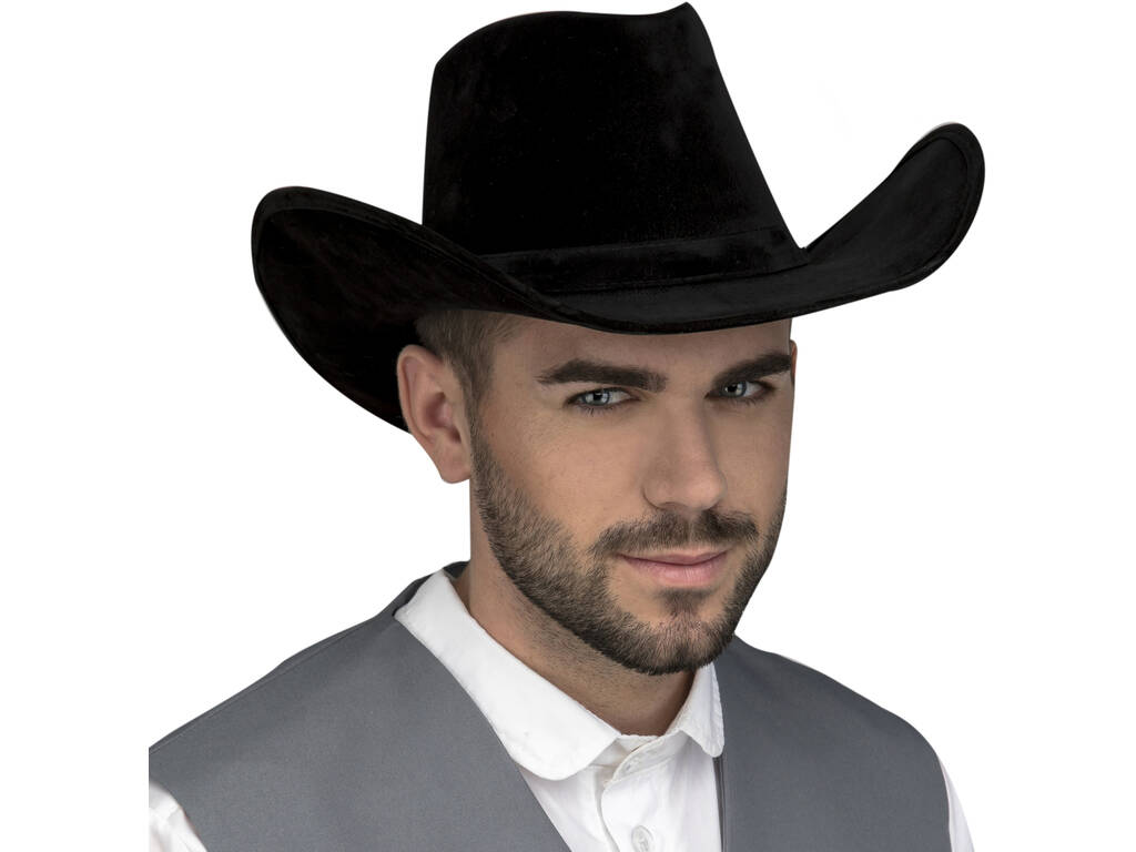 Chapéu Adulto Vaqueiro Preto 59 cm.