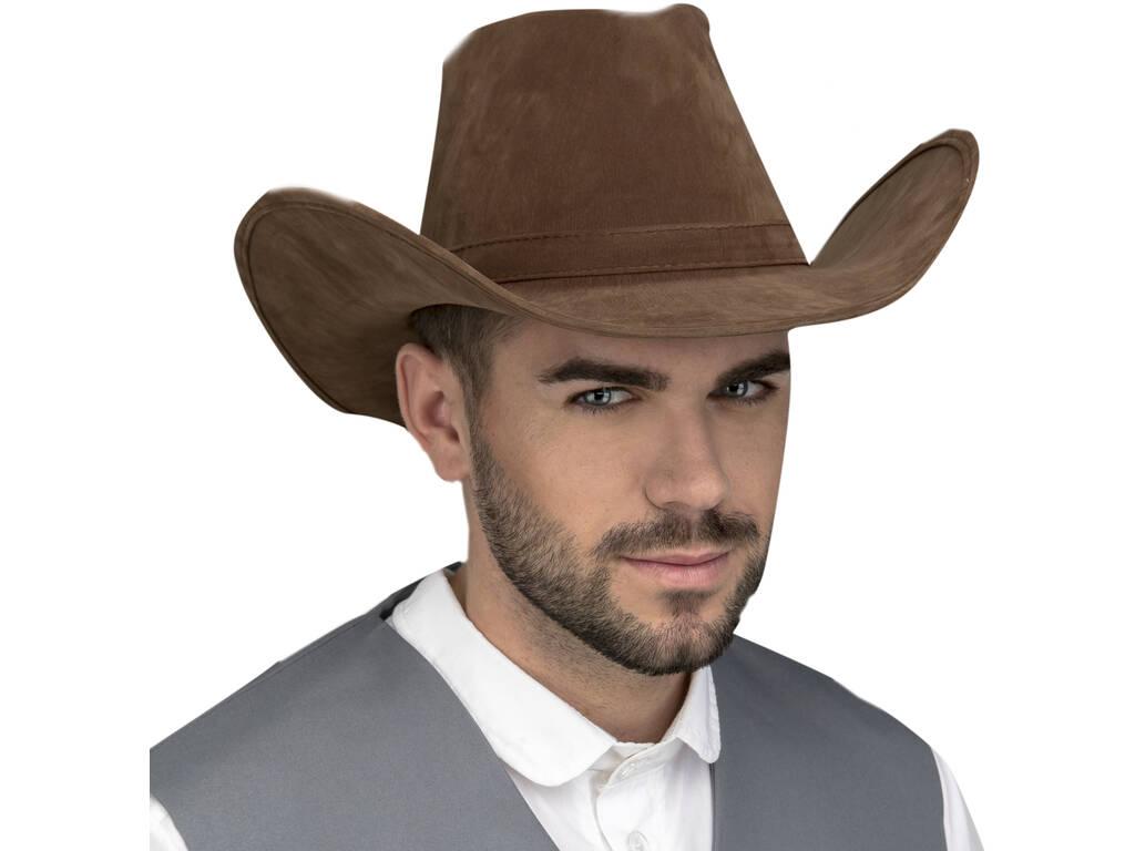 Chapéu Adulto Vaqueiro Castanho escuro 59 cm.
