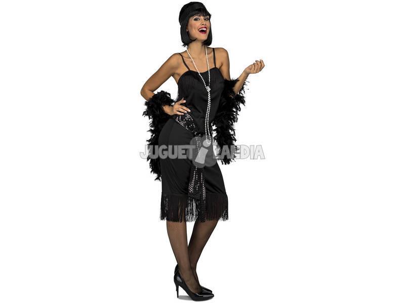 Disfraz Mujer L Charleston Negro