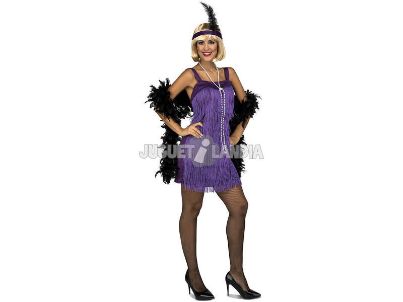 Disfraz Mujer L Charleston Morada
