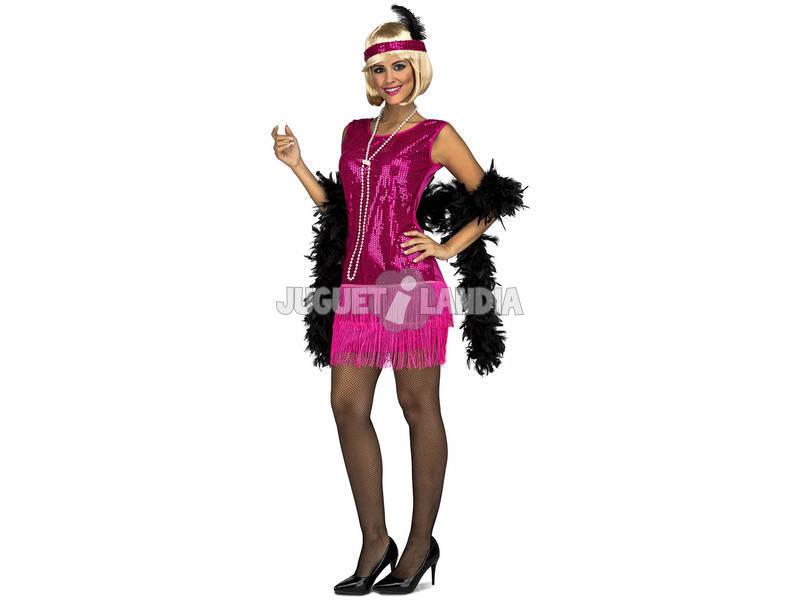 Disfraz Mujer L Charleston Fucsia